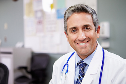 Medical doctor smiling at camera
