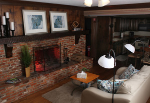 Cozy room with fireplace and couch at 7 Summit Pathways