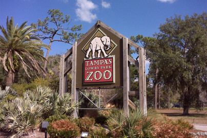 Tampa's Lowry Park Zoo sign