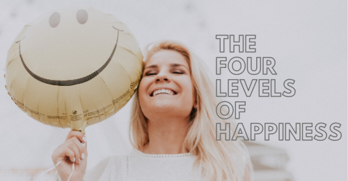 """""""the four levels of happiness"""" graphic"""