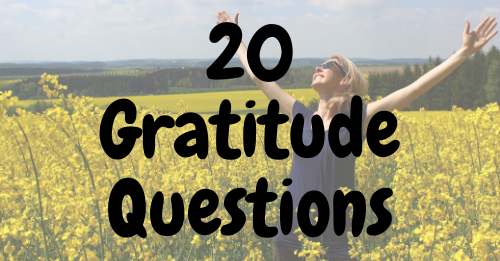 """20 gratitude questions"" Graphics"
