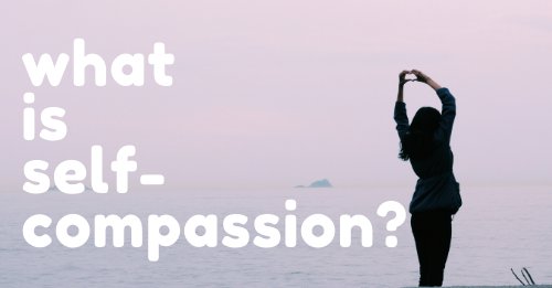 """what is self compassion?"" graphic"