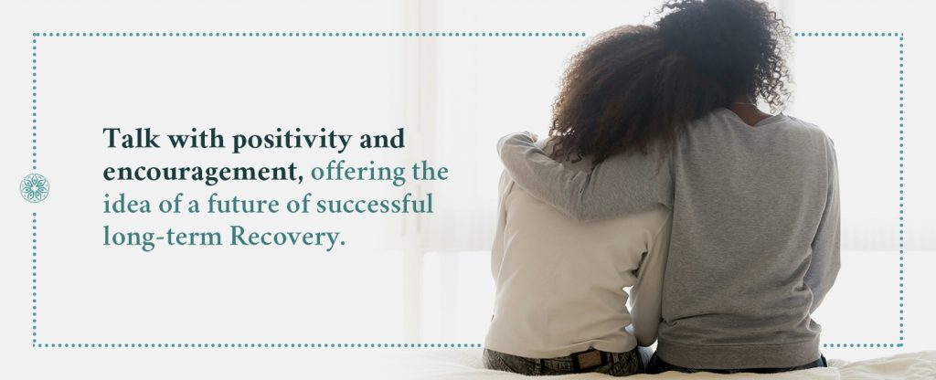 talk with positivity when offering help