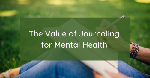 """The Value of Journaling for Mental Health"" Graphic"
